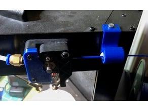 Combination filament guide and filter for Monoprice Mini Delta