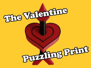 The Valentine Puzzling Print