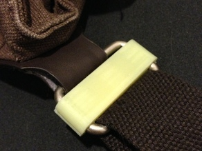Clips for fixing twisted bag strap! (OpenSCAD)