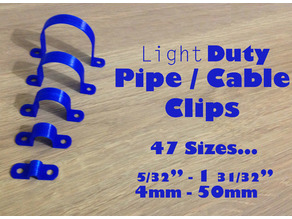 Pipe Clip / Cable Clip 4mm to 50mm every size