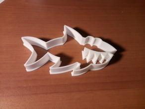 Cute shark cookie cutter