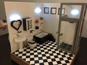 Water storage & drawer  (bathroom)