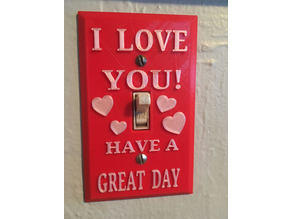 I Love You! Light Switch Cover