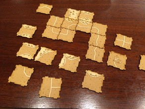 Locking Carcassonne tiles