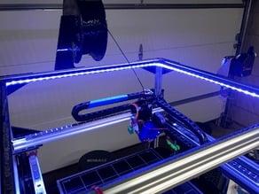 LED Strip Light Mount for 2020 Extrusion (Folgertech FT-5 R2)