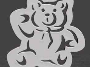 Christmas Tree Ornament - Teddy Bear Flat