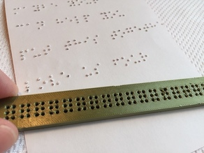 Braille Slate - One Line - FDM printable