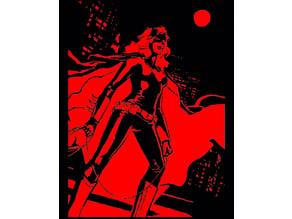Bat Woman stencil