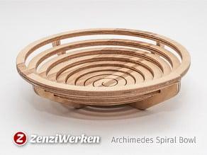 Archimedes Spiral Bowl cnc/laser