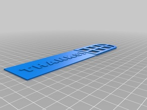 Thanks! Bookmark with Window Frame