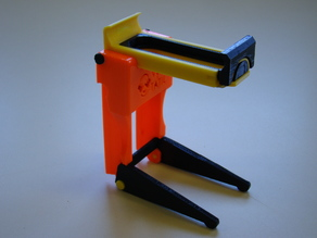 Smartphone holder for magnifying