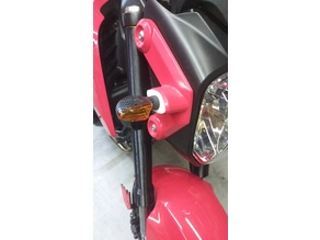Honda Grom aftermarket front turn signal mounts.