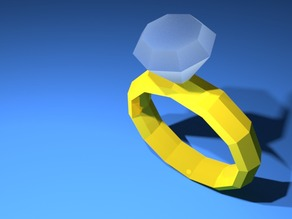 LoPoly Diamond Ring