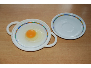 Microwave fried egg maker