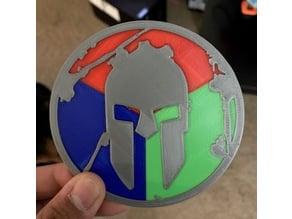 Spartan Trifecta Badge (Multi-Material)