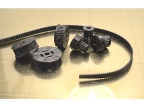 Customizable GT2 Gear / Pulley / Idler