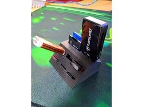 USB, MicroSD and SDCard Holder