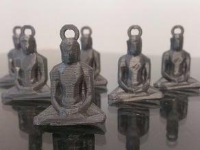 Low Poly Buddha Keychain