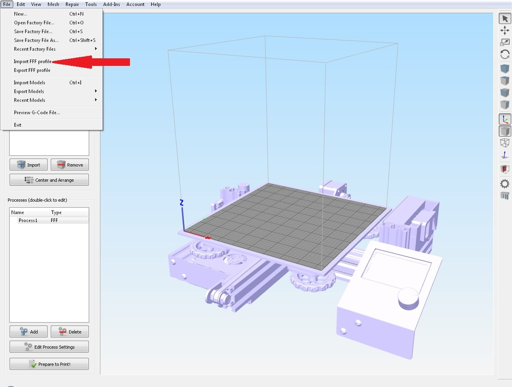 Creality Ender-3 bed (stl file) for Simplify3D by lithos_g - Thingiverse