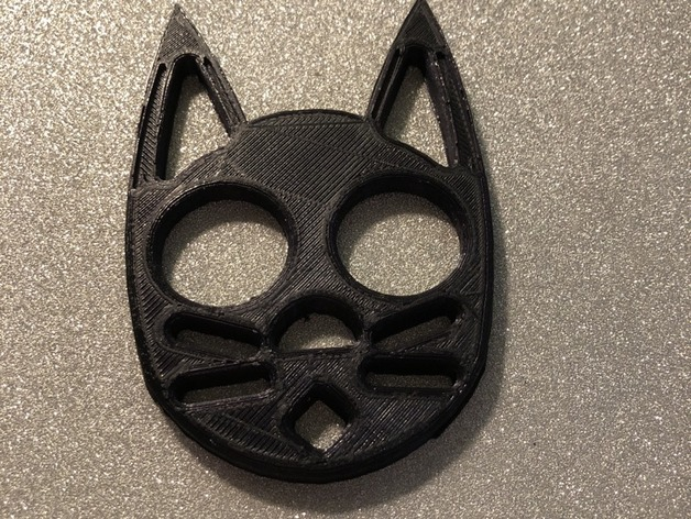 Makes Of Black Cat Self Defense Keychain By Duckin22 Thingiverse