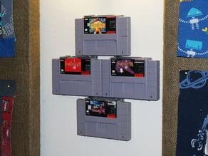 Modular SNES Game Wall Hangers (Super Nintendo) UPDATED 2015-08-24