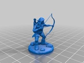 D&D Miniature Goblin Archer