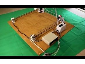 Simple X Y Laser Plotter