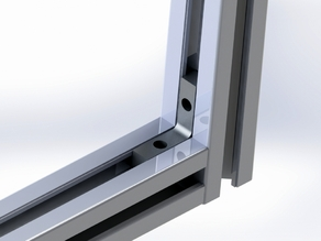 Aluminium profile internal square for 2020 profile 6mm