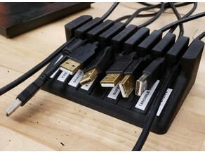 Desktop Wire Organizer 9 Slot