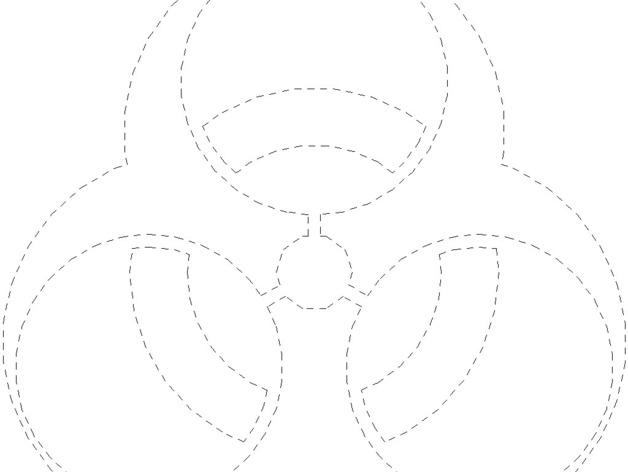 Biohazard Symbol By Scribblej Thingiverse
