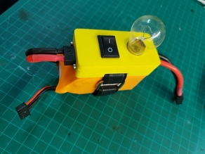 Lipo mountable smoke stopper and switch