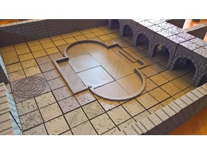 OpenForge Cut Stone and Concrete Pool