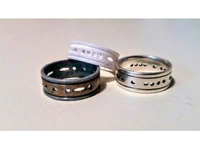 """Heather"" Morse Code Wedding Ring"