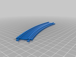 Interlocking train track - curved 30 degrees
