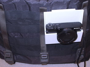 Sony RX100 holster for MOLLE/PALS messenger bags