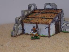Saxon Burh Hut (on Roman Walls)