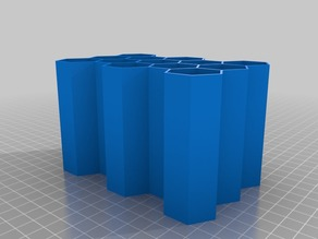 5x3 1 inch Parametric Honeycomb containers