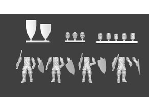 Knight Infantry Miniatures Customizable
