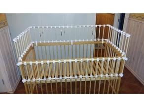 connection system for baby bed /  система соединений для детской кроватки