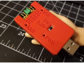 USB to FTDI Adapter Case - with pin labels