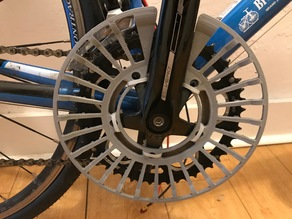 Chainring pants guard for road bike