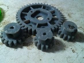 OpenRC truggy  central differential: stronger motor gear