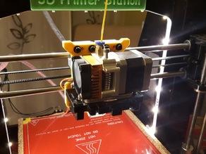 New back extruder carriage for Geeetech Prusa I3X