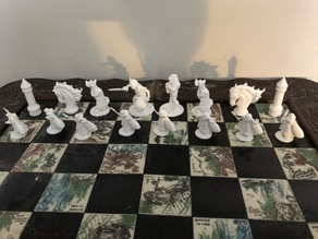 My Compilation of Thingiverse Makes that makes a cool chess set