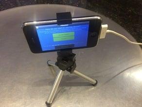 Flexible phone tripod mount for iPhone 3, 4, etc.