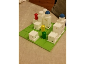 Santorini Print and Play pieces and board (Small remix)