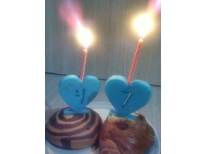 Birthday candles heart