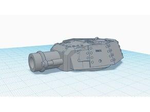 Leman Russ T34 Bull Dog Turret, 40k Mod
