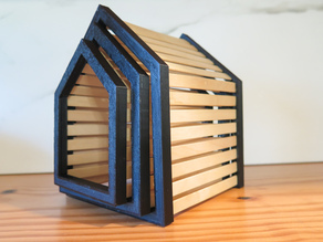 Popsicle Stick Nesting Houses
