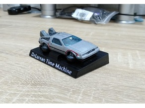 BACK TO THE FUTURE_DeLorean_Time Machine_Holder_Hot-Wheels